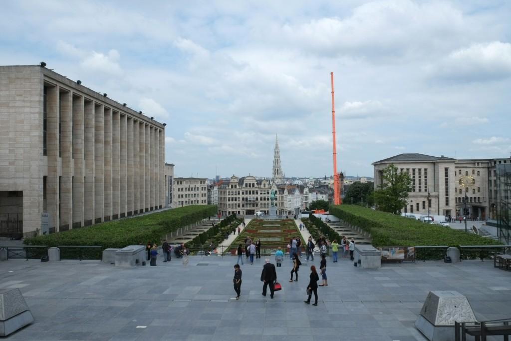 Вид с Mont des Arts, Брюссель