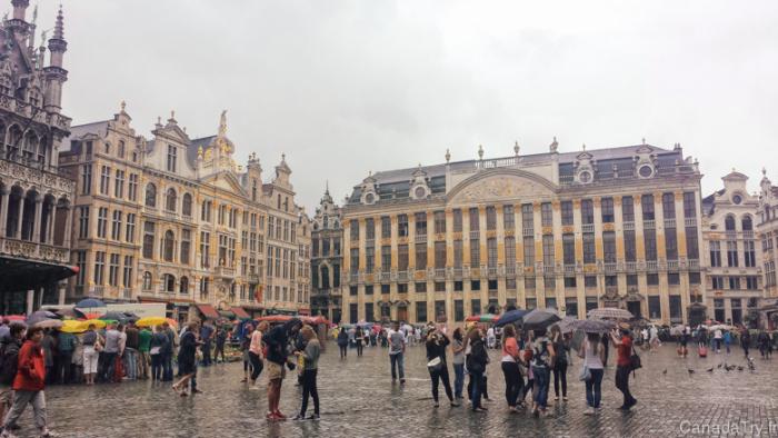 Дождь в Брюсселе