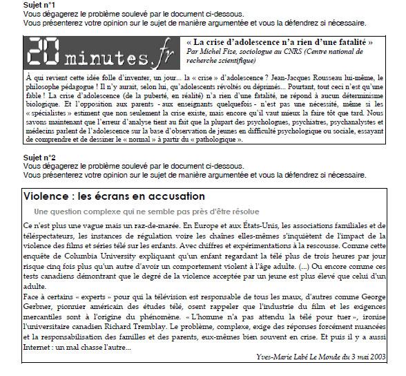 DELF B2 примеры текстов для production orale
